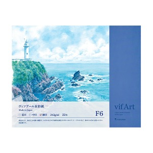 마루맨 VIFART Watercolor Block F6 407×320mm (세목/22매/242g)